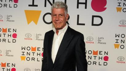 Anthony Bourdain attends a summit in New York City in April