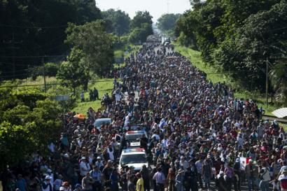【中米の「移民キャラバン」】数千人が米国目指し川のように北上中 ->画像>6枚