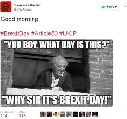 The Best Of Brexit Trigger Day Memes Bbc News