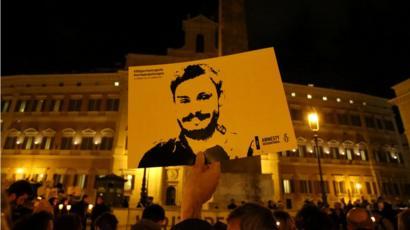 صورة ريجيني خلال أحد المناسبات للتذكير بجريمة اغتياله