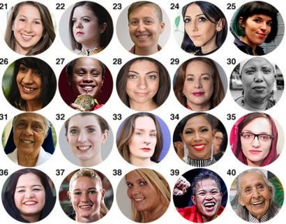 Fotos das integrantes da BBC 100 Women 2019 de 21-40