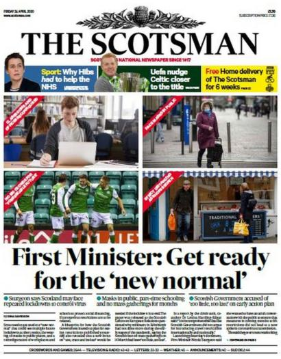 Scotland S Papers New Normal And The Road Out Of Lockdown Bbc