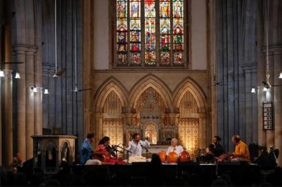 TM Krishna singing in a church