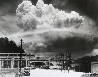 Official Historic Photo Famous Iconic ATOMIC BOMB Over Nagasaki WWII Nuclear War