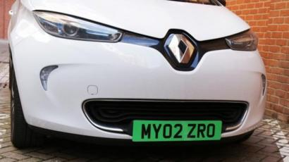 Green number plates planned for electric cars - BBC News