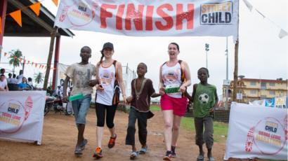 The marathon in Makeni