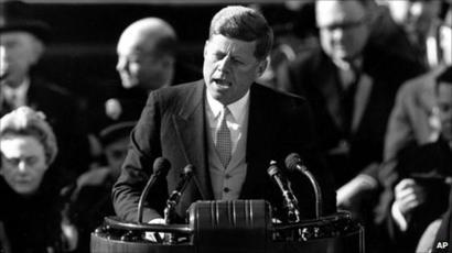 John Kennedy inauguration speech