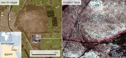 Tanis Egypt Map.Egyptian Pyramids Found By Infra Red Satellite Images Bbc News