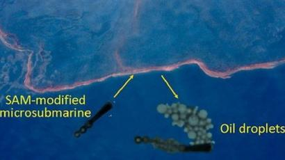 Microsubmarines could clean oil spills, researchers say
