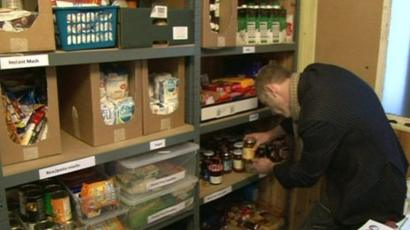 Warrington Food Bank Opens To Help Those In Poverty Bbc News