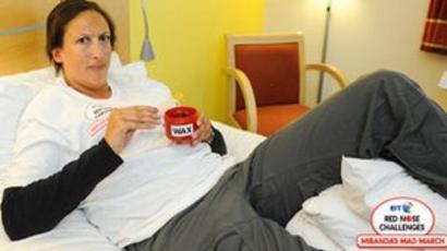Miranda Hart Hurt Falling In Heels In Newcastle Bbc News