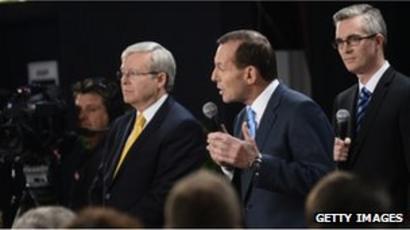 Australia Election Rudd And Abbott Conduct Second Debate Bbc News