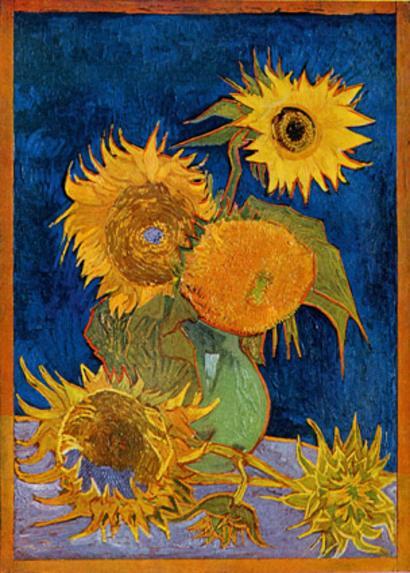 Van Gogh's wilting Sunflowers taken off