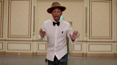 Pharrell Williams makes me HAPPY!!!!   Happy pharrell williams lyrics, Happy  pharrell, Pharrell williams happy   230x410