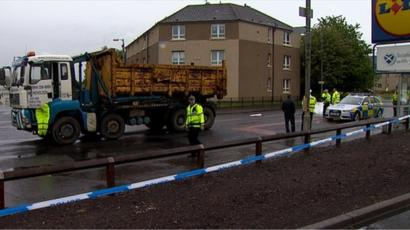 Police name man, 63, killed by truck in north Glasgow - BBC News