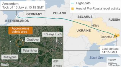 MH17 crash: Airlines divert flights from eastern Ukraine - BBC News
