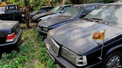 Sri Lanka Seizes Car Fleet Not Returned By Rajapaksa Bbc News