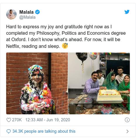 Malala Complete her Graduation