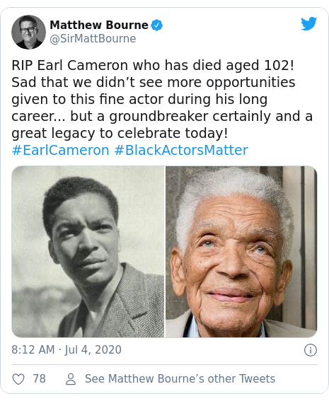 Earl Cameron British Film And Tv Star Actor Dies Aged 102 Bbc News