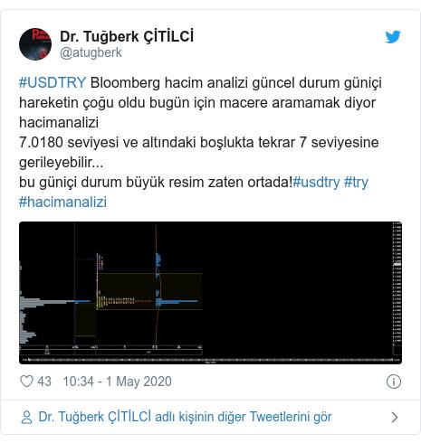 @atugberk tarafından yapılan Twitter paylaşımı: #USDTRY Bloomberg hacim analizi güncel durum güniçi hareketin çoğu oldu bugün için macere aramamak diyor hacimanalizi7.0180 seviyesi ve altındaki boşlukta tekrar 7 seviyesine gerileyebilir...bu güniçi durum büyük resim zaten ortada!#usdtry #try #hacimanalizi