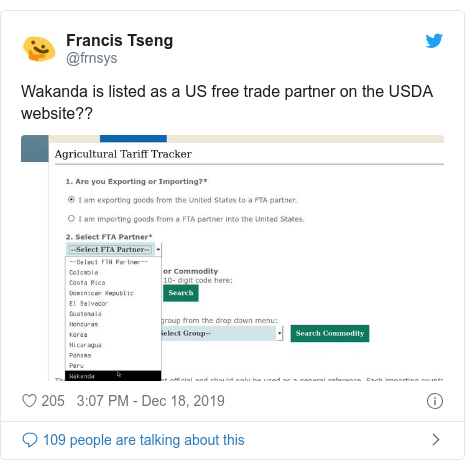US government lists fictional nation Wakanda as trade partner - BBC News