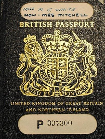 1971 passport, featuring no special security features