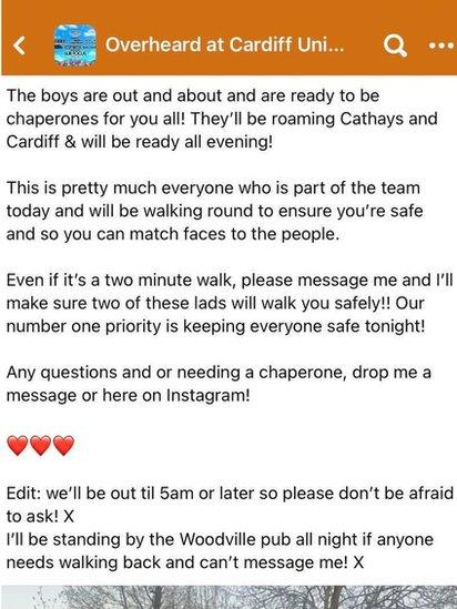 The social media post that Ben put out
