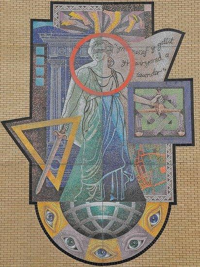 Cardiff Magistrates Court Mural