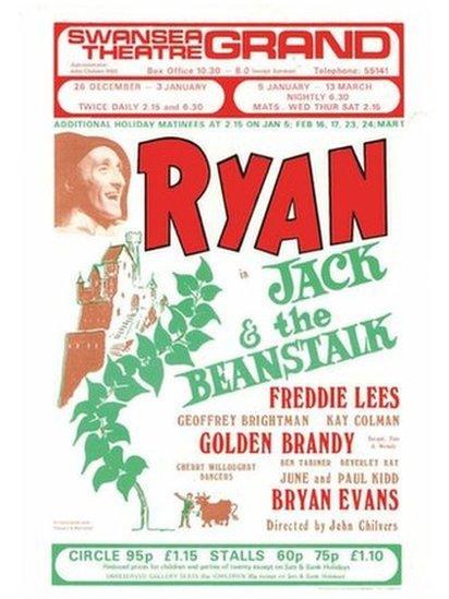 Poster panto 1975/6 // Poster for the 1975/6 season