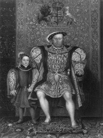 Brenin Harri VIII a'i fab y Tysywog Edward