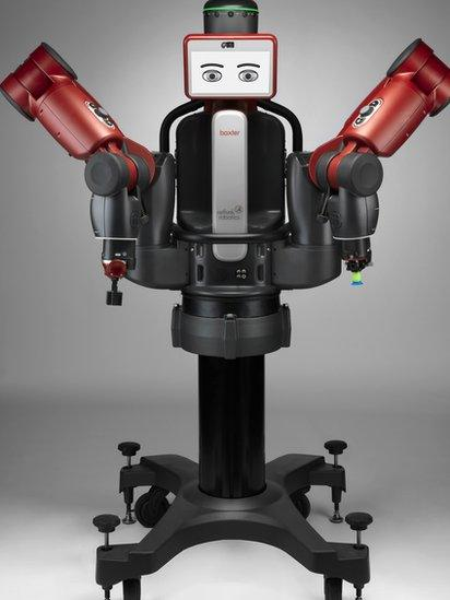 Baxter, one of the robots made by Rethink Robotics