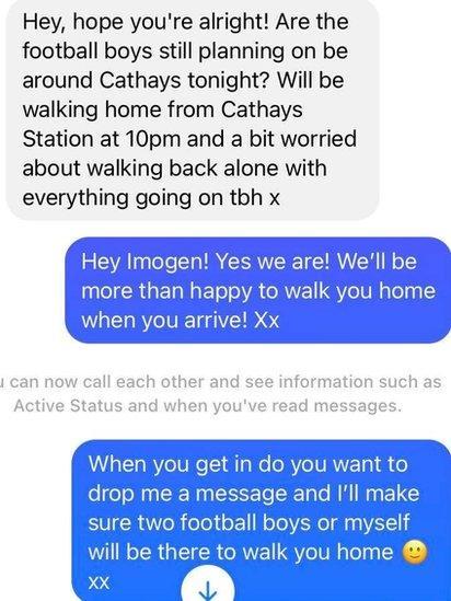 Text message Ben received