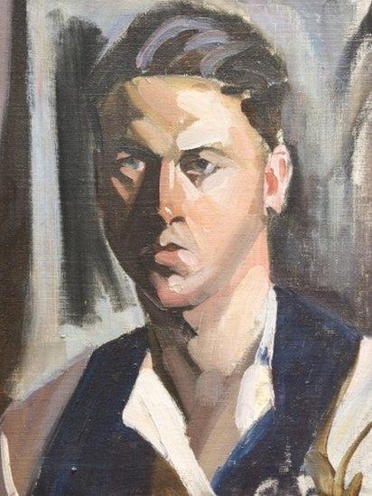 Self portrait by John Cyrlas Williams