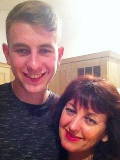 Michael Molloy and mother Frances