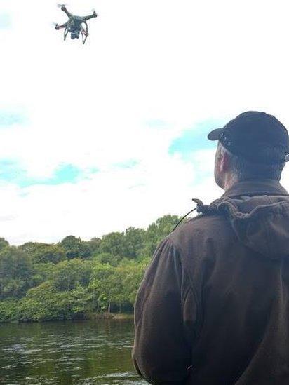 Ness District Salmon Fishery Board's drone