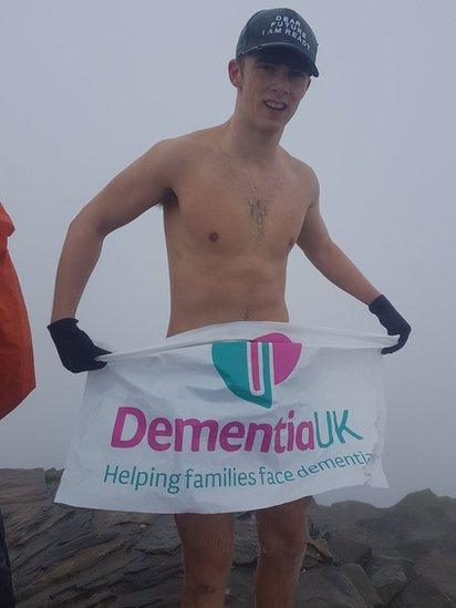 Nathan French on Snowdon