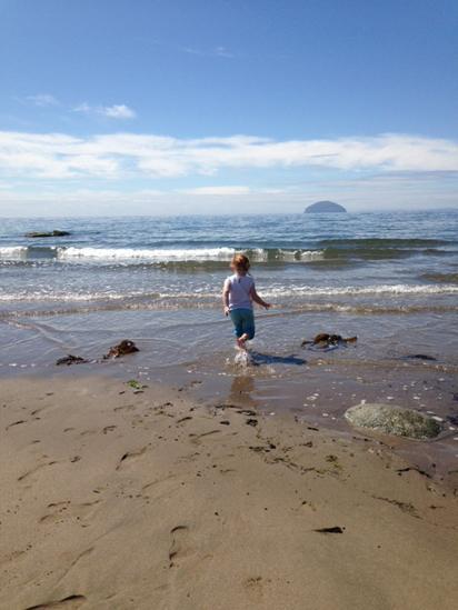 Girvan beach