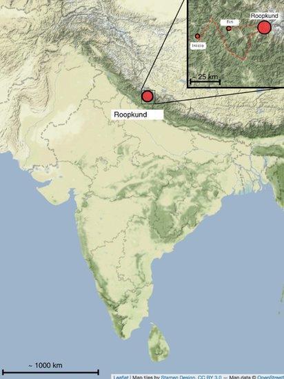 Cordillera Del Himalaya Mapa.Esqueletos En El Himalaya Los Nuevos Hallazgos Que Intentan