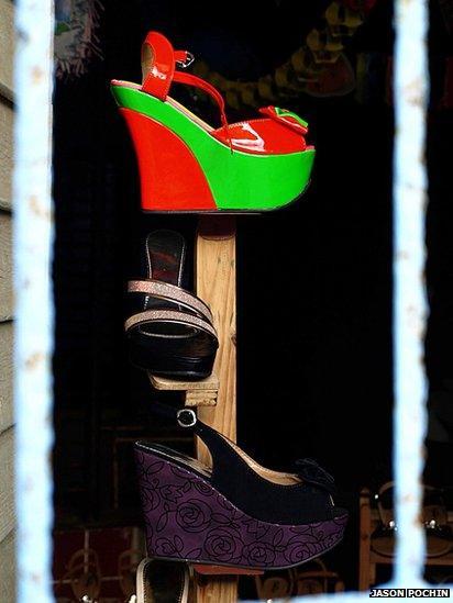 Shoes for sale in Baracoa, Cuba