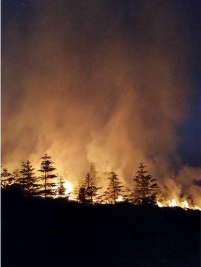 Ben Bhraggie wildfire