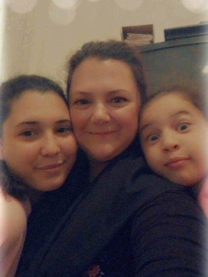 Tanya Borg and her daughters