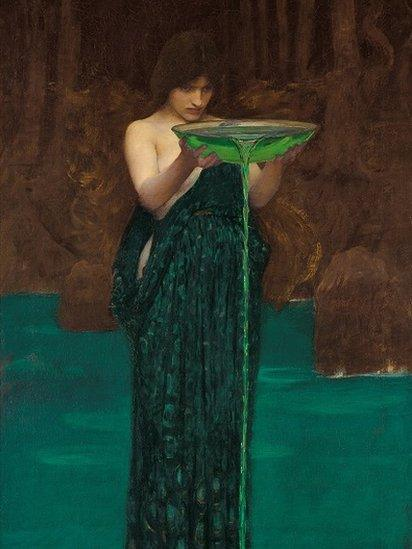Painting: Circe Invidiosa, 1892. Found in the collection of the Art Gallery of South Australia.
