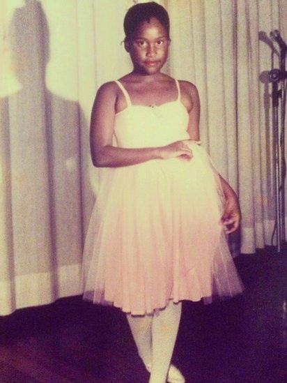 Sabrina Fidalgo as a ballerina