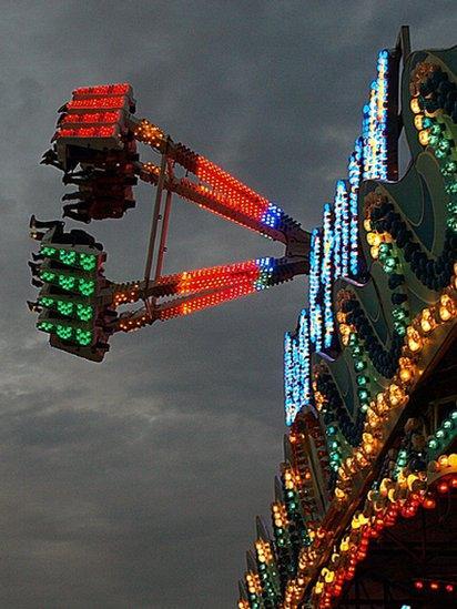 People on a fun fair ride