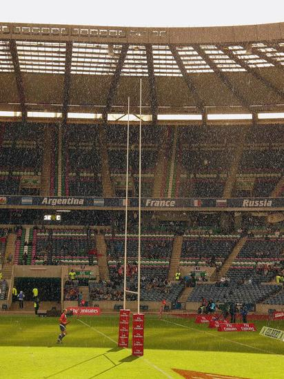 Rugby game at Murrayfield stadium