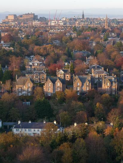 The Edinburgh skyline