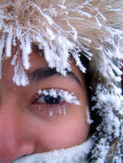 Iced eyelashes