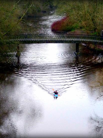 Canoeist on the River Kelvin