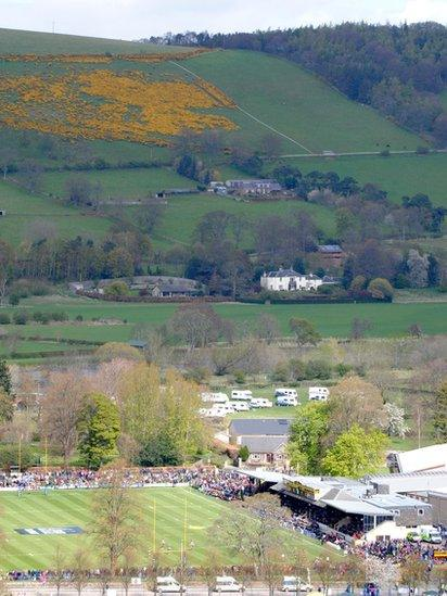 Melrose 7's rugby in the village of Gattonside