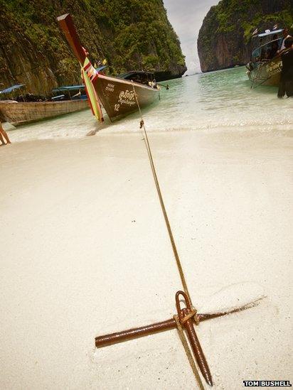 Boats at Koh Phi Phi beach